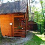 Widok z zewnątrz na domek drewniany numer 1