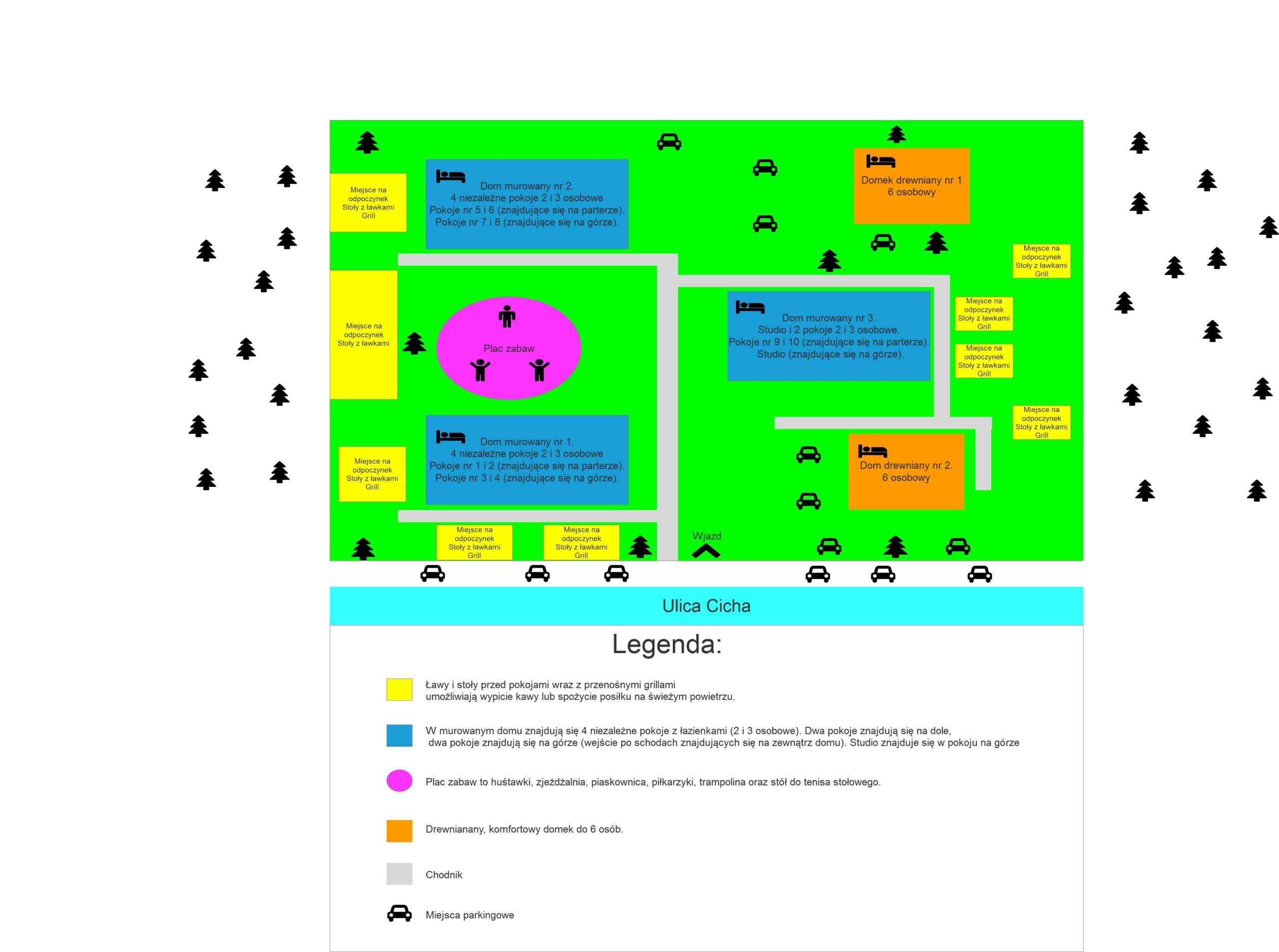 Uproszczony plan ośrodka